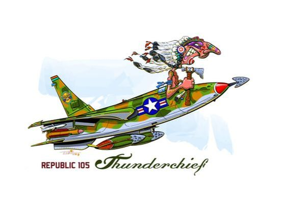 Thunderchief, aviation, jet, Republic aircraft, airplane, 105 Fighter,  India